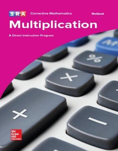 9780076024667: SRA Multiplication: A Direct Instruction Program (Workbook) (CORRECTIVE MATH SERIES)