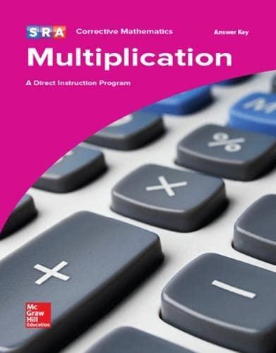 9780076024674: Corrective Mathematics Multiplication, Additional Answer Key (Corrective Math Series)