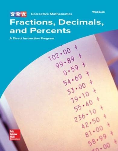 9780076024780: Corrective Mathematics Workbook: Fractions, Decimals and Percents (MATH MODULES-FRAC, DEC, PERCT)