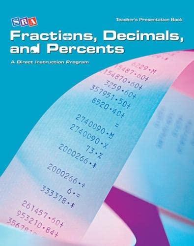 9780076024803: Corrective Mathematics - Teacher Materials (Fractions, Decimals, & Percents) A Direct Instruction Program