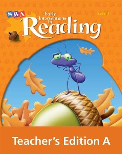 9780076026586: EARLY INTERVEN 1 TEACHER ED A (SRA Early Interventions in Reading)