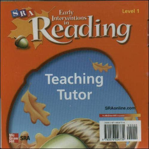 Early Interventions in Reading, Level 1: Teaching Tutor CD