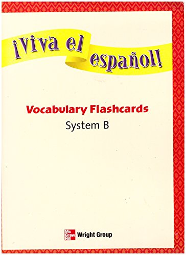 9780076029624: *VIVA EL ESPANOL!* VOCABULARY FLASHCARDS SYSTEM B (System B)