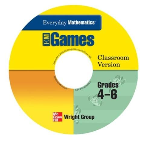 9780076032785: Everyday Mathematics, Grades 4-6, Early Childhood Games Package (Everyday Math Manipulative Kit)