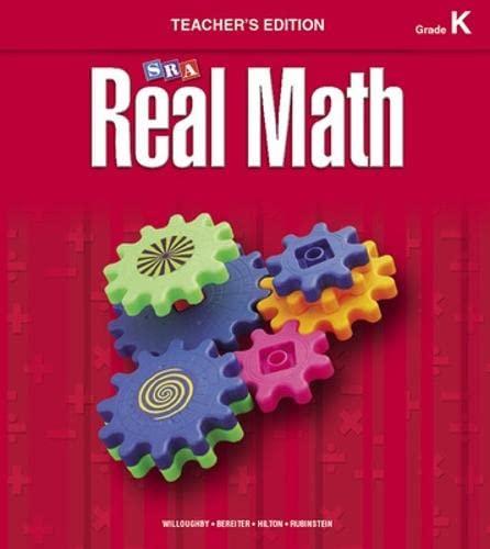 9780076037094: Real Math, Grade K teacher's edition