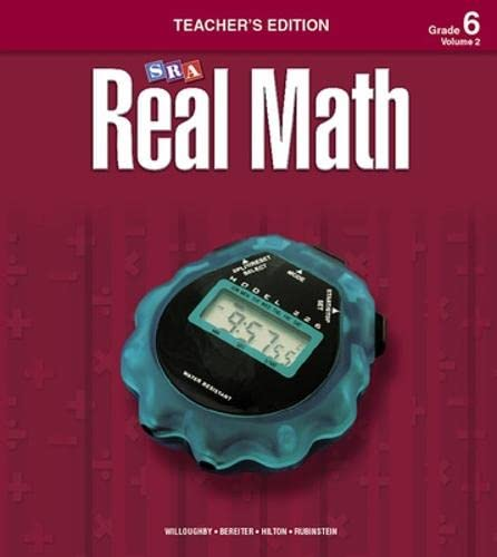 9780076037216: SRA Real Math: Teacher's Edition, Grade 6, Volume 2