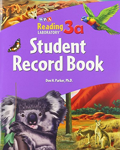 9780076042722: SRA Reading Laboratory 3a Student Record Book (Reading Lab 3a)