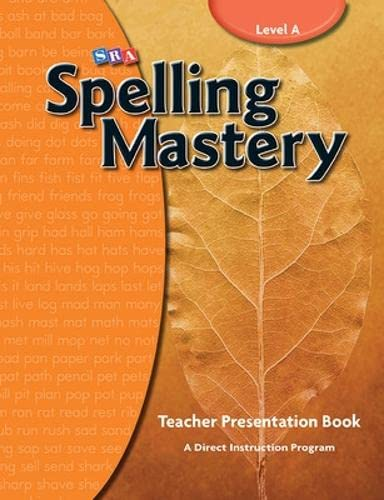 9780076044887: Spelling Mastery Level A, Teacher Materials (Corrective Spelling)