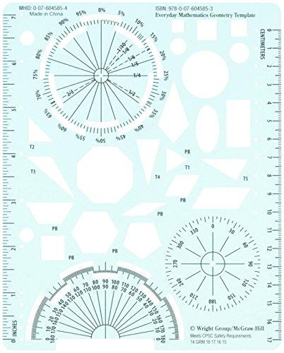 9780076045853: Everyday Mathematics Geometry Template