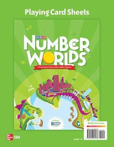 9780076053438: Number Worlds: Level A Playing Card Sheets
