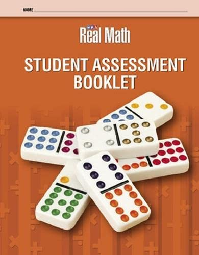 Real Math Student Assessment Booklet - Grade 1 (OCM Staff Development) (0076056635) by McGraw-Hill Education