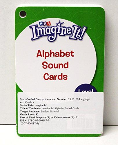 9780076061877: SRA Imagine It Kindergarten Alphabet Sound Cards Grade K