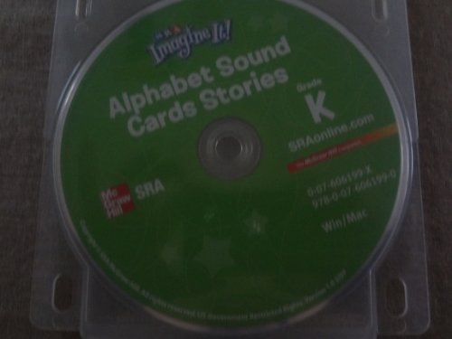 9780076061990: SRA Imagine It Kindergarten Alphabet Sound Cards Stories CD-Rom Grade K