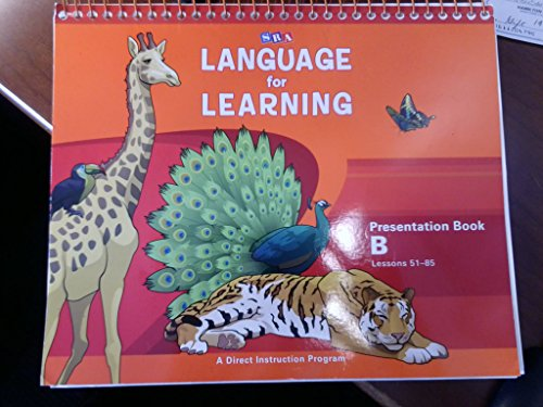 9780076094240: SRA Language for Learning, Presentation Book B, Lessons 51-85