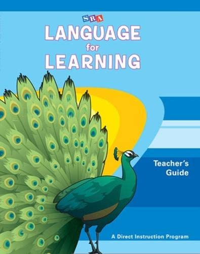 9780076094301: Language for Learning, Teacher Guide. Grade Levels Pre-K - 2 (DISTAR LANGUAGE SERIES)