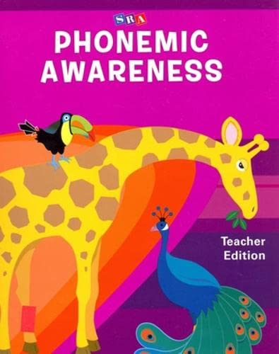 9780076094424: SRA Phonemic Awareness Teacher Edition (pre K)