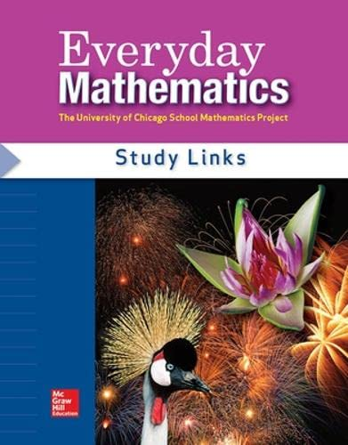 9780076097418: Everyday Math - Consumable Study Links Grade 4