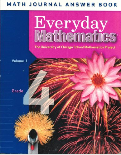 9780076097548: Everyday Mathematics: Grade 4, Math Journal Answer Book, Vol. 1