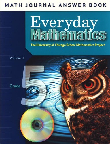 9780076097555: Math Journal Answer Book Volume 1 for Grade 5 Everyday Mathematics