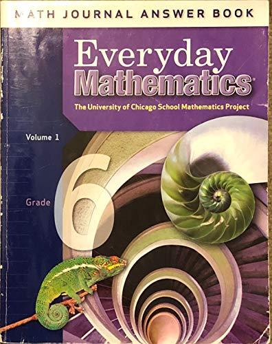 9780076097562: Everyday Mathematics: Math Journal Answer Book, Vol. 1, Grade 6