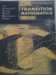 9780076110049: California Transition Mathematics Assessment Resouces - Volume 1 Chapters 1-6