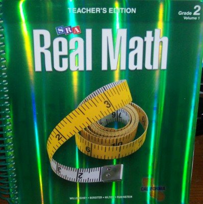 9780076111084: SRA Real Math California Teacher's Edition Grade 2 Volume 1