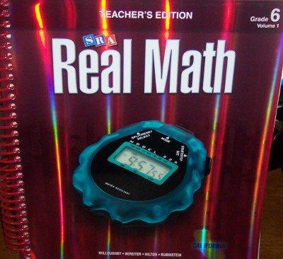 9780076111169: SRA Real Math California Teacher's Edition Grade 6 Volume 1