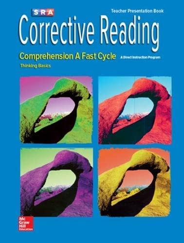9780076111602: Corrective Reading Fast Cycle A, Presentation Book (CORRECTIVE READING DECODING SERIES)