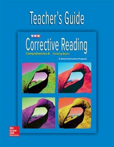 9780076111626: Corrective Reading Comprehension Level A, Teacher Guide (Corrective Reading Decoding Series)