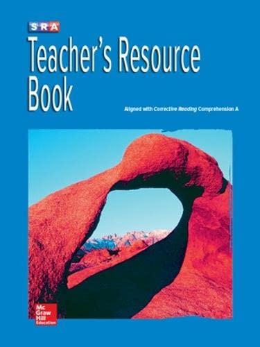 9780076111640: Corrective Reading Comprehension Level A, National Teacher Resource Book