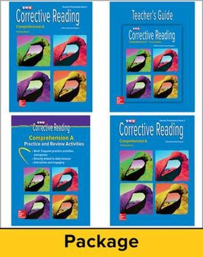 9780076111671: Corrective Reading Comprehension A: Teacher Materials Package
