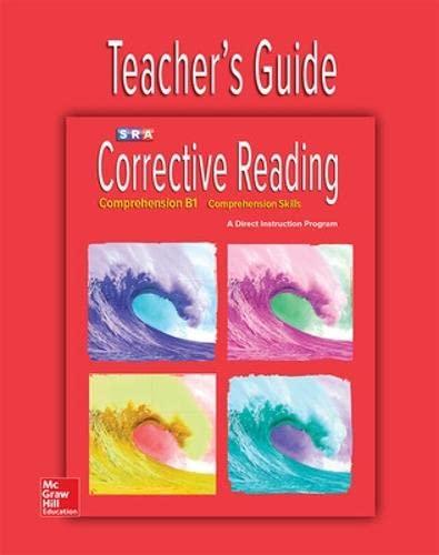 9780076111749: Corrective Reading Comprehension Level B1, Teacher Guide (CORRECTIVE READING DECODING SERIES)