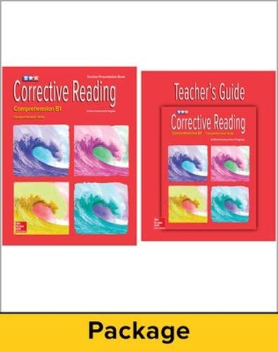 9780076111794: Corrective Reading Comprehension B1: Teacher Materials Package (CORRECTIVE READING DECODING SERIES)