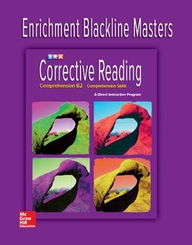 9780076111909: Corrective Reading Comprehension B2: Enrichment Blackline Masters (Corrective Reading Decoding Series)