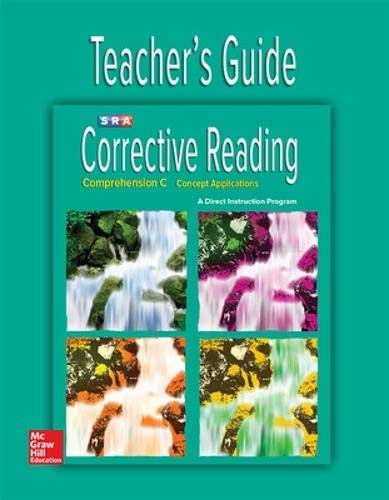 9780076111961: Corrective Reading Comprehension Level C, Teacher Guide (CORRECTIVE READING DECODING SERIES)