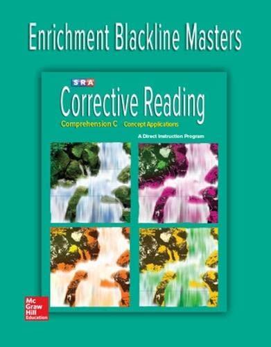 9780076112029: CORRECTIVE READING COMPREHENSION C - ENRICHMENT BLACKLINE MASTERS
