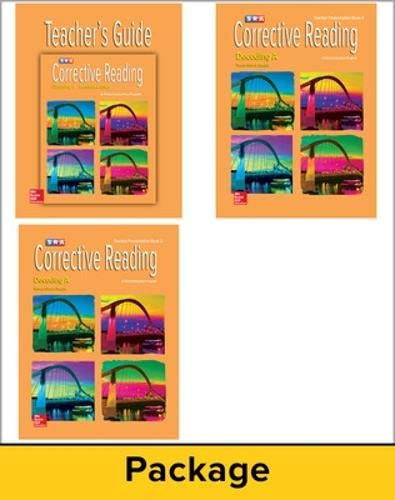 Corrective Reading Decoding Level A, Teacher Materials Package: McGraw-Hill Education
