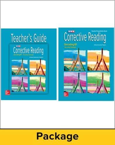 9780076112227: Corrective Reading Decoding Level B1, Teacher Materials Package (Corrective Reading Decoding Series)