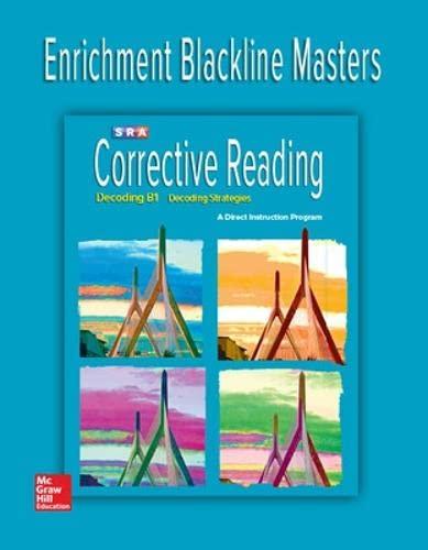 Corrective Reading Decoding Level B1, Enrichment Blackline Master (Paperback): McGraw-Hill ...