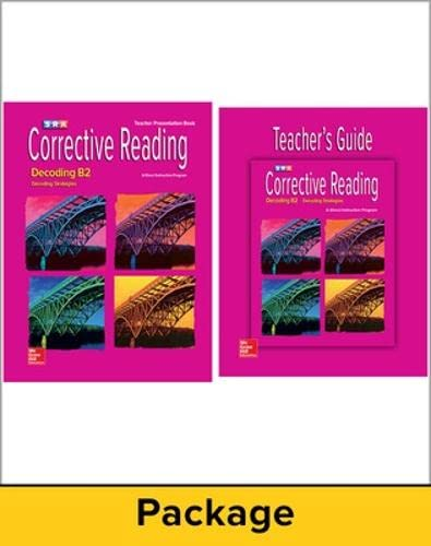 Corrective Reading Decoding Level B2, Teacher Materials Package (Mixed media product): McGraw-Hill ...