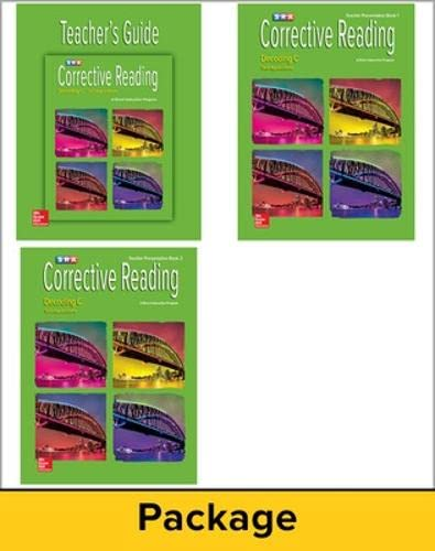 9780076112456: Corrective Reading Decoding C - Teacher Materials Package