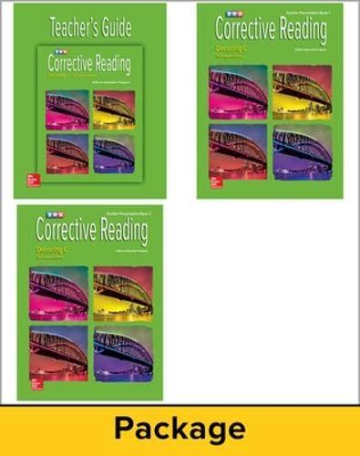 9780076112456: Corrective Reading Decoding Level C, Teacher Materials Package (Corrective Reading Decoding Series)