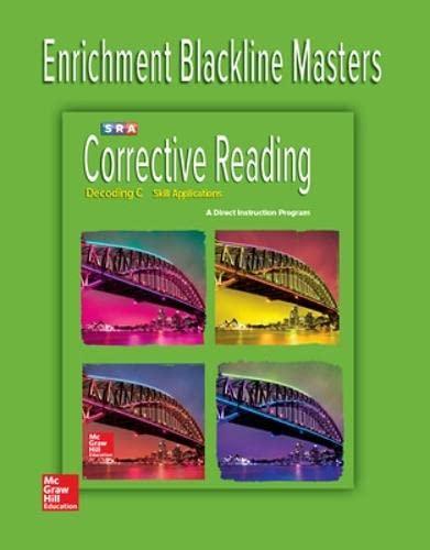 9780076112463: Corrective Reading Decoding Level C, Enrichment Blackline Master (Corrective Reading Decoding Series)