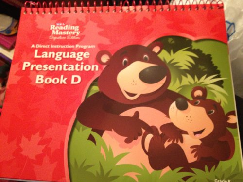 9780076122059: SRA Reading Mastery Signature Edition: Language Presentation Book D Grade K