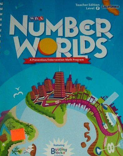 9780076122974: SRA Number Worlds: A Prevention/Intervention Math Program TEACHER EDITION; Level F/CALIFORNIA