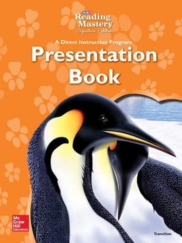 9780076124565: Reading Mastery - Transition Presentation Book - Grades 1-2