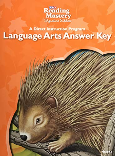 9780076124886: SRA Reading Mastery Signature Edition A Direct Instruction Program Language Arts Answer Key Grade 1 ISBN 0076124886