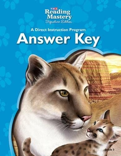 9780076125876: Reading Mastery - Reading Answer Key - Grade 3