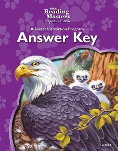 9780076126279: Reading Mastery Reading/Literature Strand Grade 4, Answer Key (READING MASTERY LEVEL VI)
