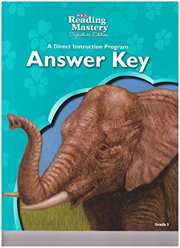 9780076126613: SRA Reading Mastery A Direct Instruction Program Answer Key Grade 5